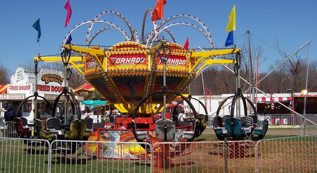 Tornado ride at Blessed Trinity fall carnival - YouTube
